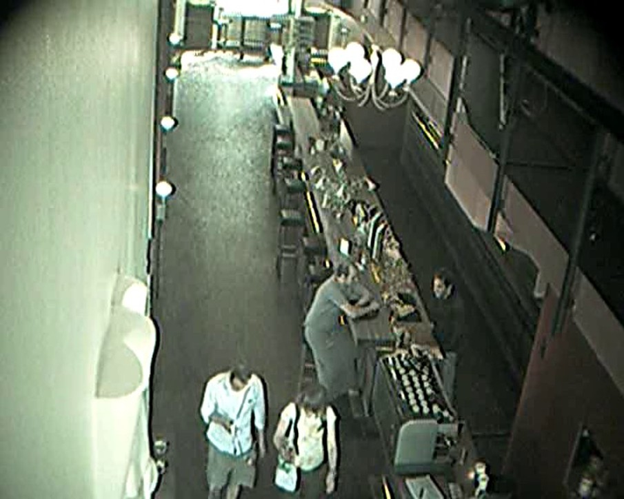 !Mediengruppe Bitnik - Still from Surveillance Camera Footage in Restaurant, Essen City Center, 2010