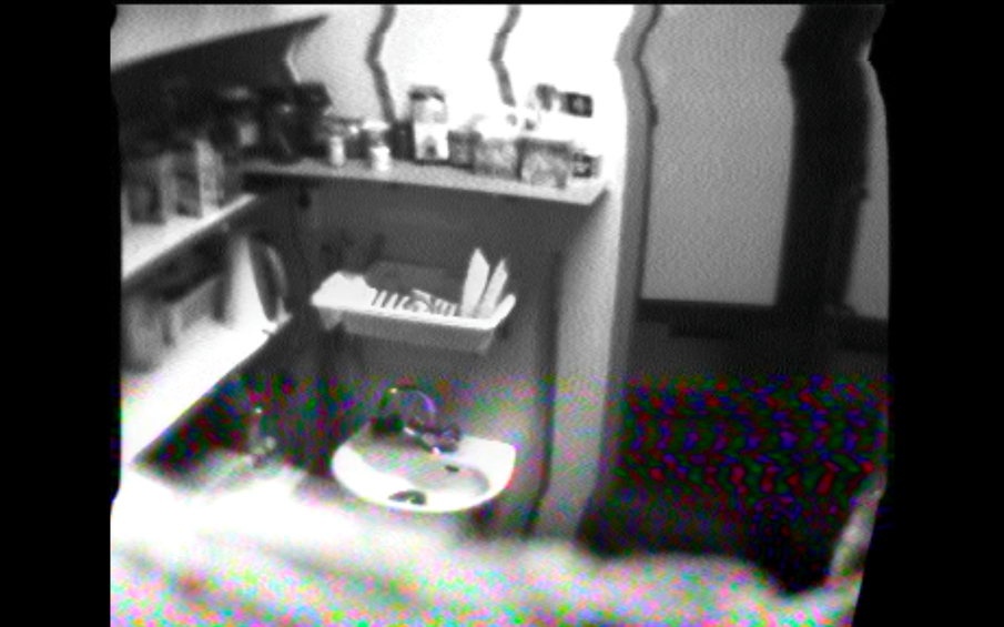 !Mediengruppe Bitnik - Still from Surveillance Camera Footage of staff kitchen in a shop, Rotterdam, 2008