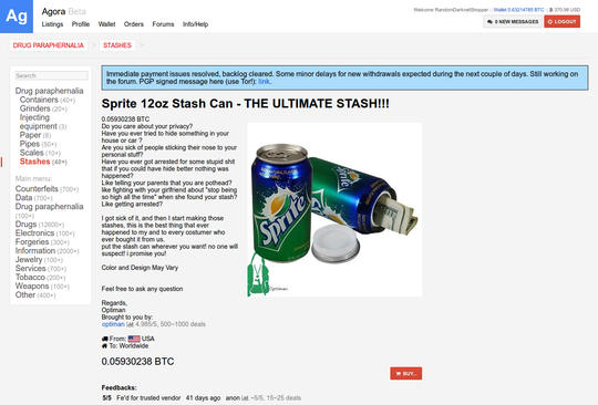 Random Darknet Shopper | Sprite 12oz Stash Can - THE ULTIMATE STASH!!!